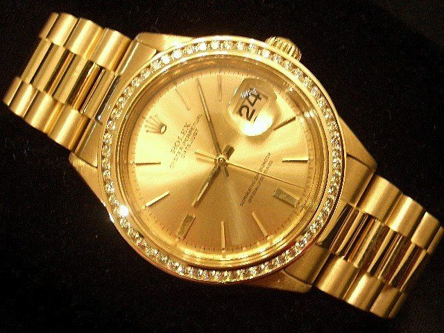 Rolex President Gold Diamond Watch